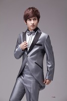 Male formal dress set wedding dress costume fashion slim tuxedo suit