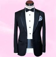 Male formal dress formal dress costume male suit slim male wedding dress set suit