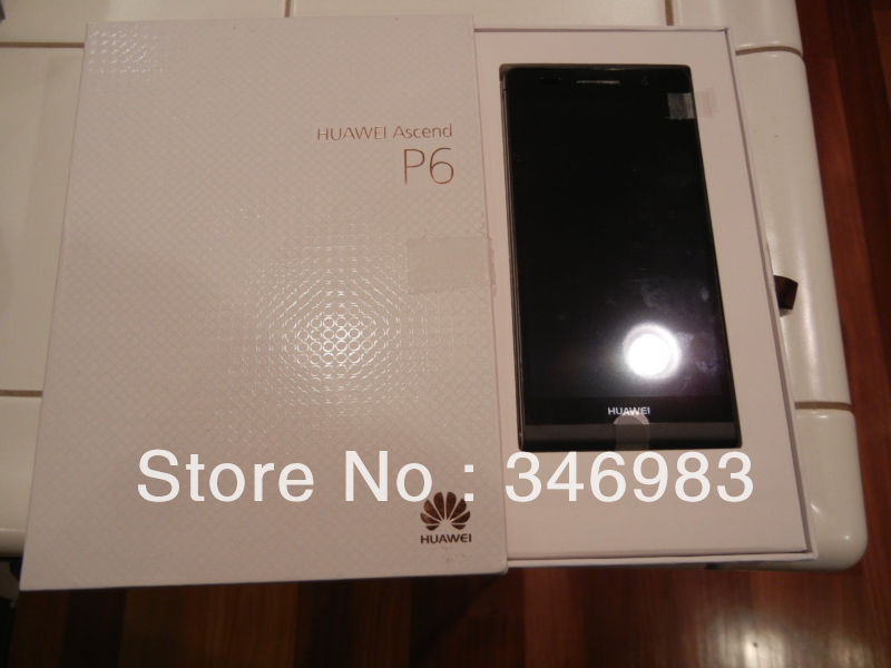 World Slimmest Phone Huawei Ascend P6 Android 4 2 Quadcore 1 5GHz 8GB Cellphone(China (Mainland))