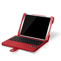 Newest Russian Letters 9.7'' Wireless Stand function Keyboard PU Leather Case with  Bluetooth For iPad 5