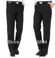 Classic Black Men Slim Fit Business& Leisure Suits Pants Tuxedo Trousers Plus Size 4XL