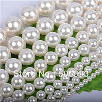 4mm 190pcs/lot Natural Shell Pearl Beads Jewelry , White Pearls Bead for Necklace Bracelet DIY Jewelry Making  HC284