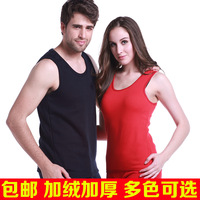 high quality High quality cotton plus velvet thickening male women's thermal vest top upperwear underwear plus size