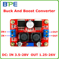 Free Shipping DC to DC Converter Boost Buck Step Up Step Down Voltage Module 3.5-28V to 1.25-26V