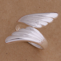 Silver Plated Angle Wing Ring Jewelry For Women resizeable Shipping With Tracking Number