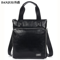 Fast shipping Classic business man bag genuine leather handle Messenger Bags men's tablet bag male 8001-2