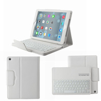 For Apple iPad Air iPad 5 Wireless Removable Bluetooth Keyboard & Leather Case Cover White