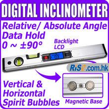 Digital Level 360 Degree Range Angle Finder Spirit Level Upright Magnets Inclinometer(Hong Kong)