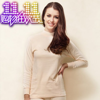 high quality Globalsources 100% cotton long johns long johns set basic women's turtleneck cotton underwear winter thermal