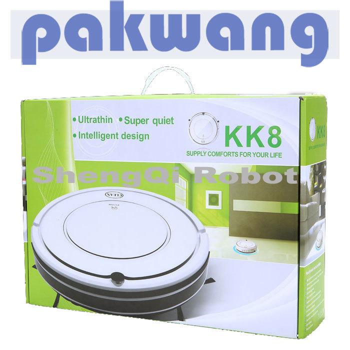 Robot Vacuum Cleaner Pure White SQ-KK8 Big Power Dropshiping(China (Mainland))