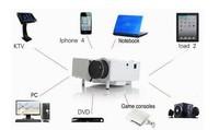 Free Shipping,LED Projector Home Cinema Theater Support  AV SD VGA USB HDMI