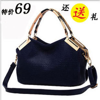 Bags 2013 women's crocodile pattern handbag autumn and winter shoulder bag cross-body women's handbag large bag