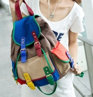 Fashion backpack sugar fruit bag double-shoulder strap travel bag canvas backpack handbag