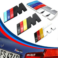 New Blue red original edition Germany Flag ///M metal car badge sticker m3 m5 X1 X3 X5 X6 E36 E39 E46 E30 E60 E92 car emblem