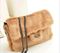 Hot selling 2013 winter fashion women leopard villus handbags brand designer  a shoulder bags messenger bag casual purse