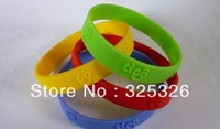 Embossed custom logo/silicone band/silcione wrist bands/500pcs/lot free shipping