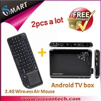 free shipping  Amlogic 8726 M3TV Box Cortex A9 WiFi HD 1080P HDMI Internet TV Box set top box+ 2.4GHz wireless Keyboard