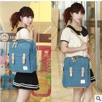 Backpack canvas women's handbag man bag student school bag messenger bag bags handbag