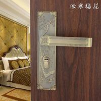 Chinese interior wood door handle locks bedroom free shipping