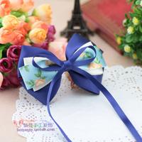 (MIN ORDER $15)Korean  handmade  Ribbon Bow hair Clip P101