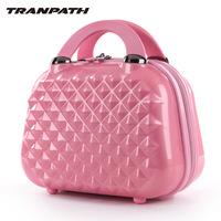 Tranpath diamond rhombus 12 women's large capacity cosmetic bags trolley bag travel luggage bag