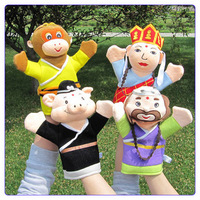 Cartoon puppet toy combination puzzle baby early learning toy plush cloth bag