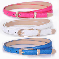 ON SALE 2014 Hot Selling Fashion Leather Strap Female PU Belt Women's Belt FREE SHIPPING 12 Candy Colours