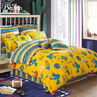 Sesame street child home textile bedding 100% cotton print four piece set