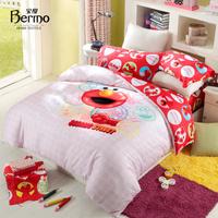Home textile bedding sesame street child 100% cotton four piece set elmo