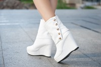 Женские ботинки CHEAP! women's boots 13 women's autumn ankle platform high-heeled wedges martin boots shoes FASHION