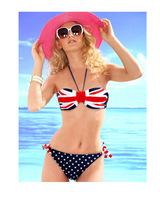 Freeshipping bohemian Ethnic patterns print  sexy Vintage bikini Set swimwear 3002 Swimsuit