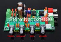 2.0 preamp board NE5532NE5532 deep negative feedback treble alto bass 2.0mixing board use in power amplifier board Free Shipping