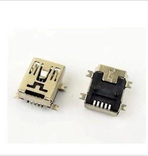 50PCS/LOT MINI USB female socket 5P Female SMD Mini MP3 4 Accessories Charging Data Port(China (Mainland))