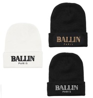 3 Colors 2013 New Arrivel Fashion Brand BALLIN PARIS Beanie Hat Football Skullies Wool Winter Warm Knitted Caps For Man Women