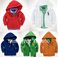 free shipping  2013 boys and girls casual Hooded Zip Jacket children hoodies kids clothing sweatshirts