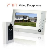Luxury Home 7 inch TFT Digital Screen Night Vision Video Door phone Intercom Home Security Doorbell Free Shipping