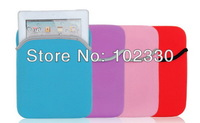 Soft Neoprene Laptop sleeves Case Pouch Bag cover for ipad 1 2 3 4 mini Galaxy table kindle fire free shipping