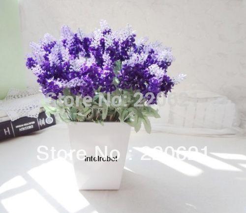 Lavanda Artificial Arranjo realista flores de seda violeta Início Garden Decor casamento festivo da festa de flores decorativas(China (Mainland))