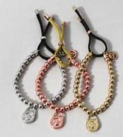 Freeshipping Fashion Jewelry elegant 4-color classic bead elastic bracelet