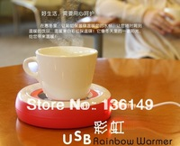 Hot Sale USB Rainbow Warm Keeper Glass Mat Insulation Heat Preservation Plate Mini USB disc Christmas Gift Free Shipping LJW-032