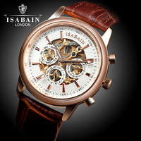 Watch stainless steel male fully-automatic mechanical watch mens watch double cutout back through the inveted