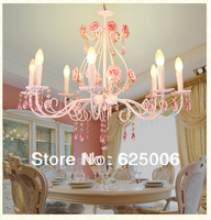 8 source Rose carve chandelier,pendant lamp light+k9 crystal ceiling lamp - E14 candle light & other style 3/5 source for choice