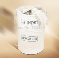 King size Cotton Household Storage basket storage barrels cloth folded laundry basket laundry tub toy storage bag 70L