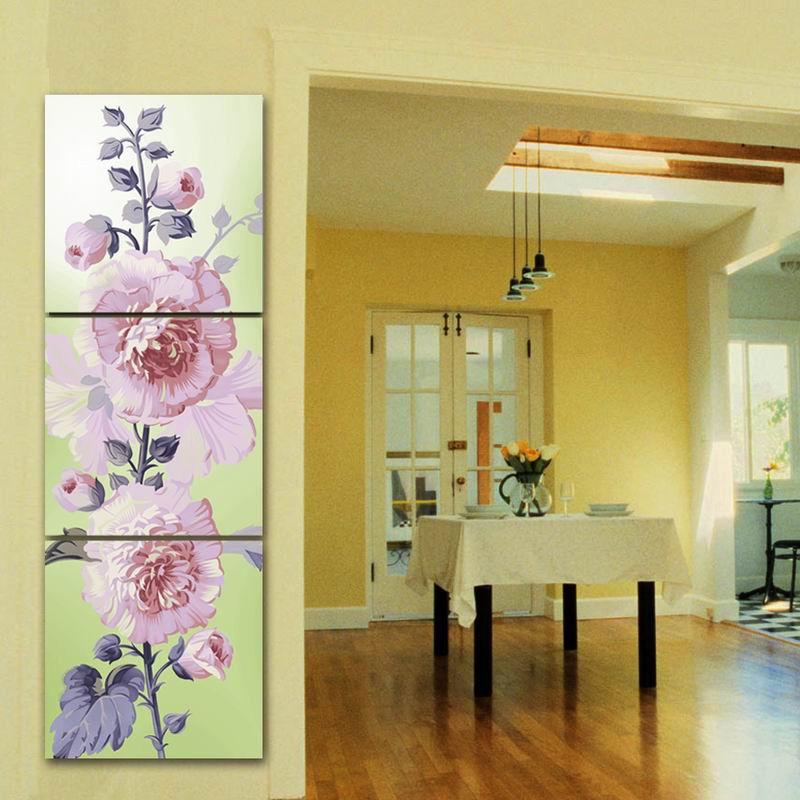 3Panels Decorative Paint Flower Canvas Picture Print Painting No Frame APT606L(China (Mainland))