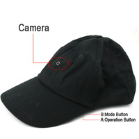 Fashion travel outdoor hiking mini camera DVR camcorder recorder hat cap