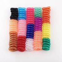 Small crystal telephone Line ring thickening mini elasticity rubber band Children Environmental hair accessory Factory sales
