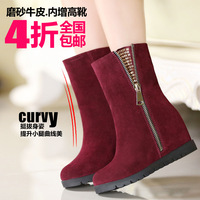 Weinstein cowhide fashion women's elevator shoes boots high-heeled boots martin boots 696