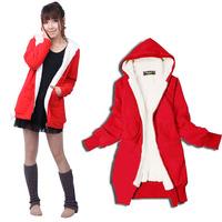 2013 New Winter Women Jacket Overcoat Thickening Fur Outerwear Fleece M L 3 Colors Outdoor Coat Retails Fashion Hoody