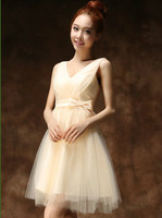 The new marriage shoulders short summer evening dress
