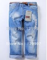 Retail - hot new 2-10 years Fashion cool cotton denim boys jeans brand children's long pants  kids girls boys pants